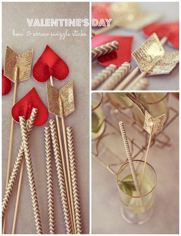 Valentine S Day Bow Arrow Swizzle Sticks In All Things Beautiful