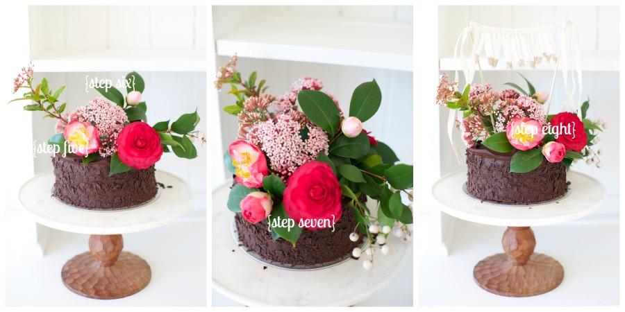 Floral Cake DIY Steps LR2